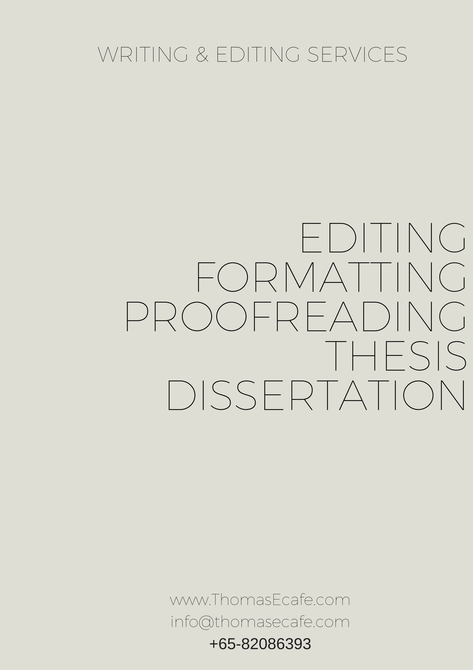Dissertation layout and formatting